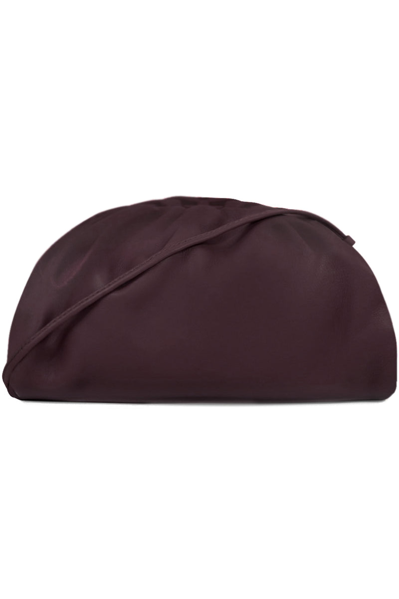 THE POUCH 20 SMOOTH LEATHER GRAPE