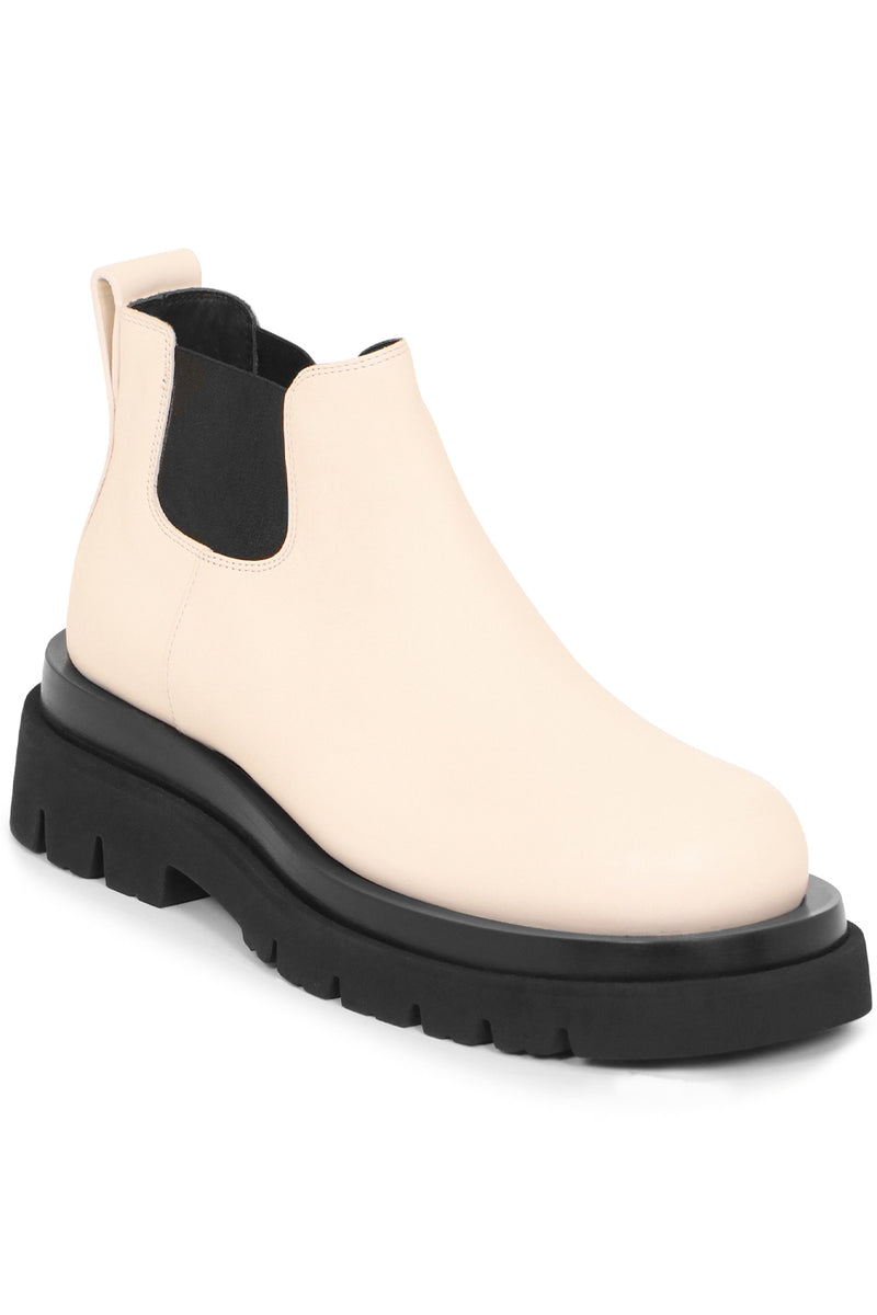 LUG ANKLE BOOTS 55MM SEA SALT