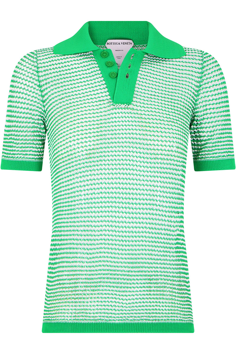 MESH POLO TOP S/S PARAKEET GREEN