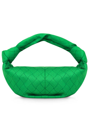 JACQUARD DOUBLE KNOT BAG PARAKEET GREEN