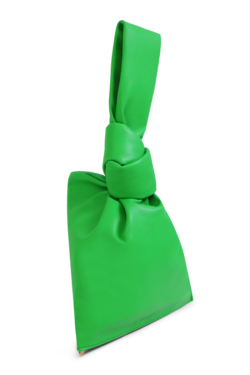 MINI TWIST BAG SMOOTH LEATHER GRASS