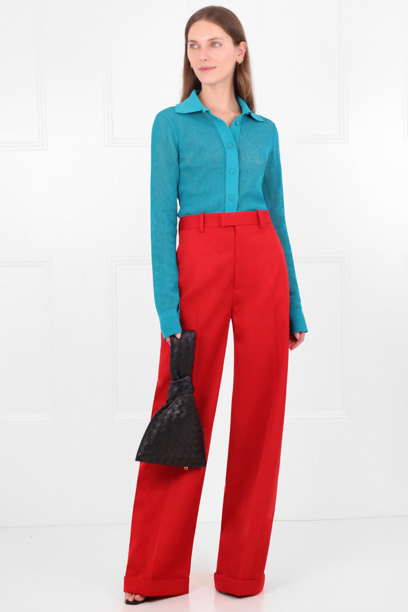 WIDE LEG PANTS LIPSTICK