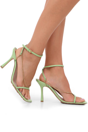 CHAIN SANDALS 90MM PISTACHIO