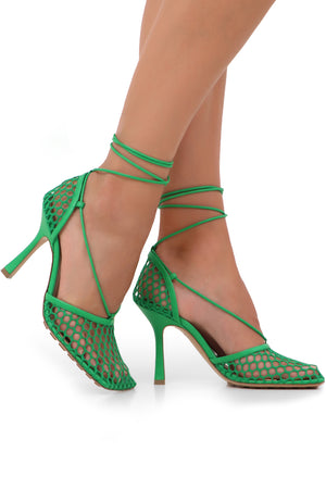 WEB STRETCH SANDALS 90MM GRASS