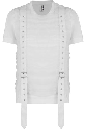 NOIR LAYERED TULLE T-SHIRT WHITE