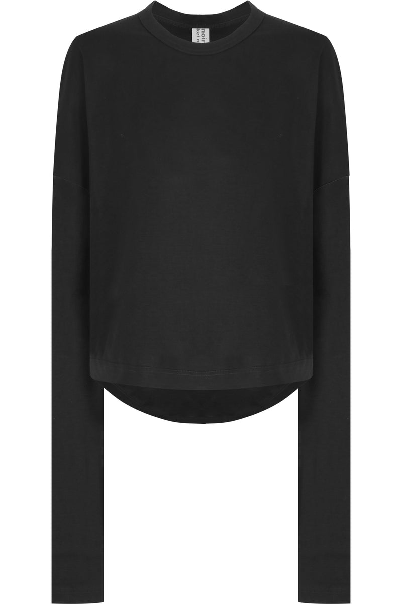 NOIR DROP SLEEVE T-SHIRT L/S BLACK