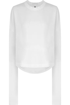 NOIR DROP SLEEVE T-SHIRT L/S WHITE