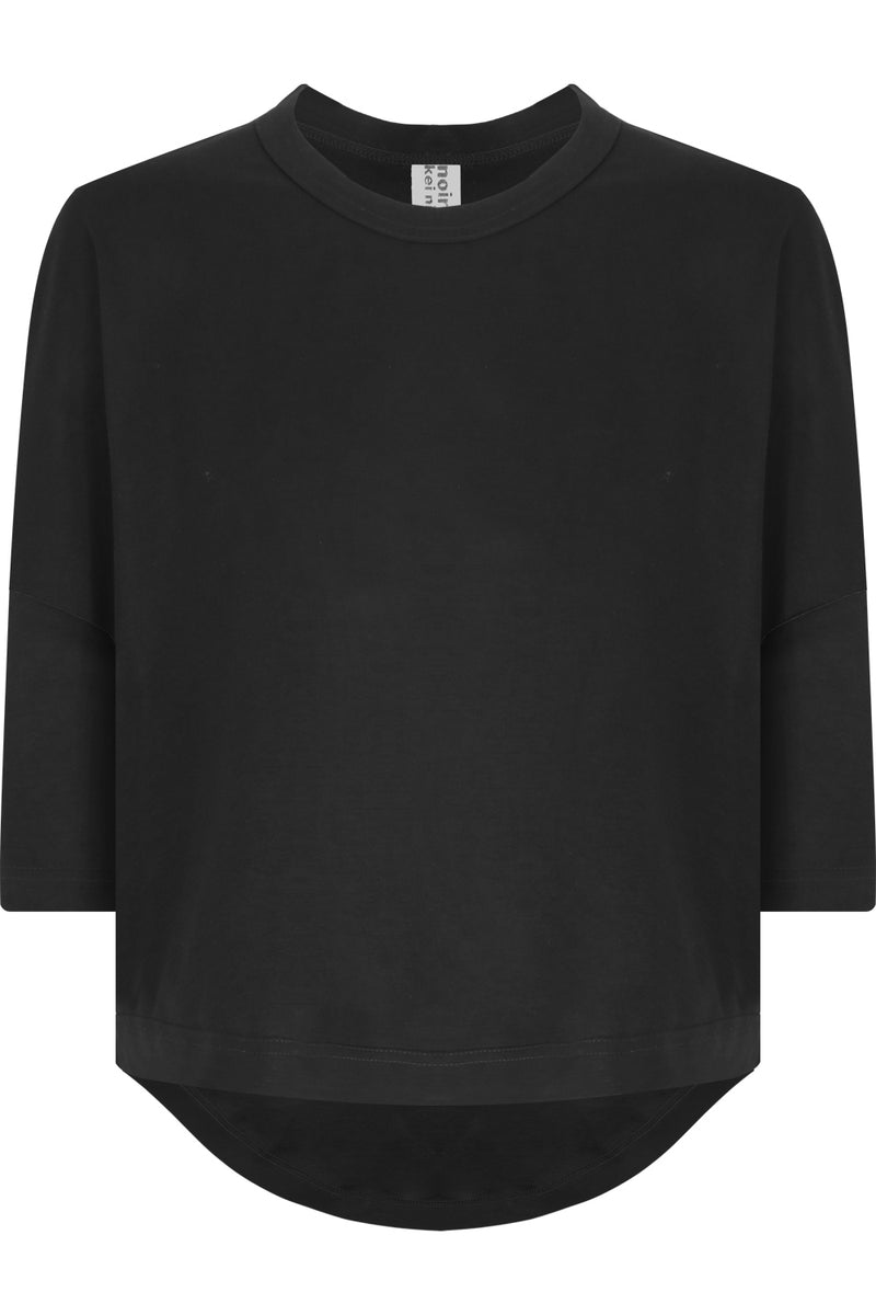 NOIR CROPPED T-SHIRT S/S BLACK