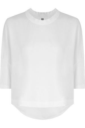 NOIR CROPPED T-SHIRT S/S WHITE