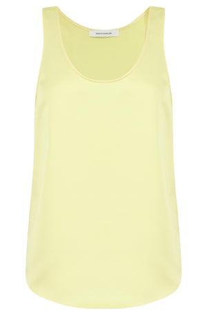 SCOOP NECK TANK TOP LEMON
