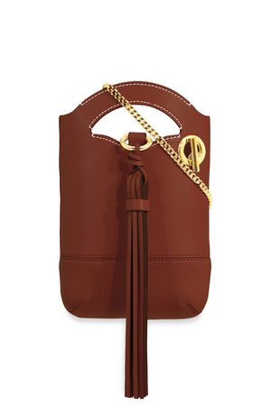 WALDEN SMALL CHAIN BAG SEPIA BROWN