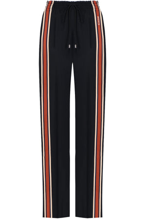 SIDE STRIPE STRAIGHT LEG PANTS BLACK