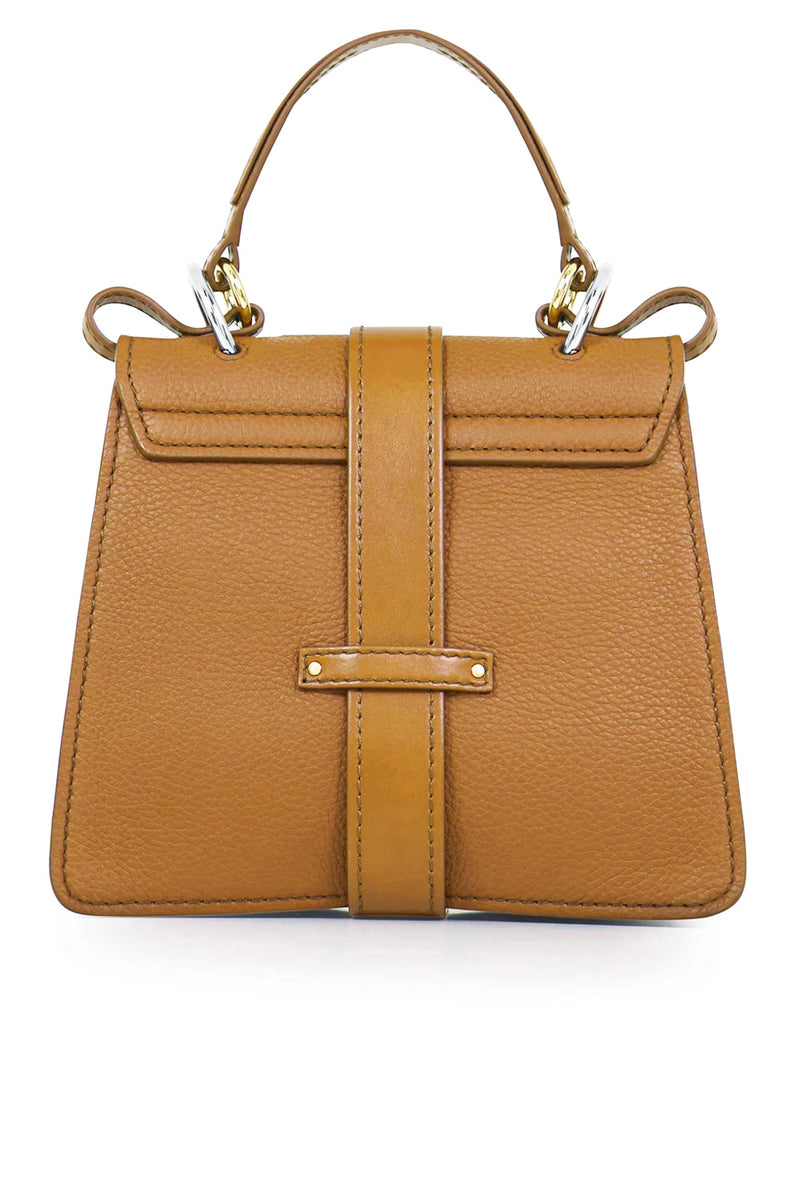 SMALL ABY BAG WITH LOCK AUTUMNAL BROWN