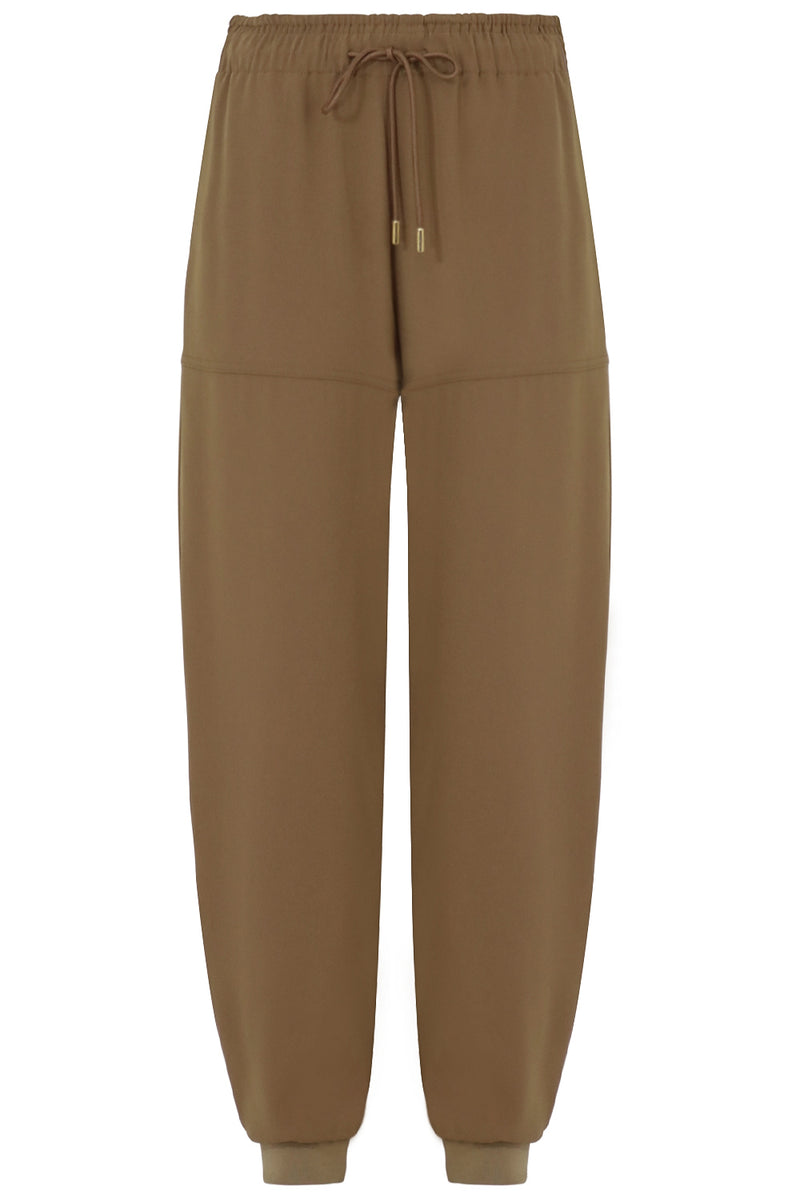 HAREM PANT WITH DRAWSTRING OLIVE