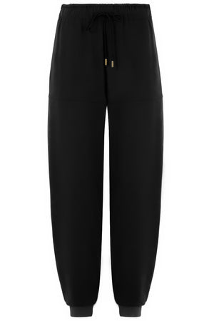 HAREM PANT WITH DRAWSTRING BLACK