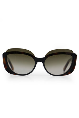 CAYLA BUTTERFLY SUNGLASSES BLACK HAVANA