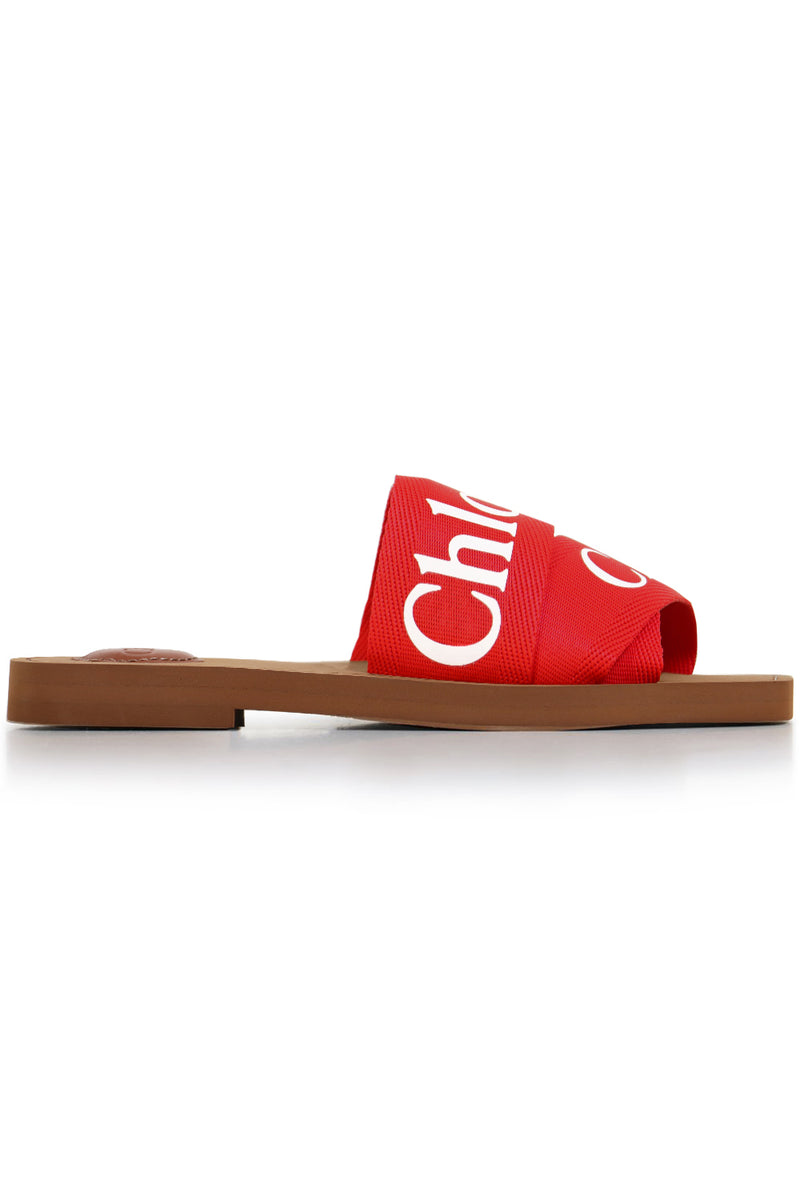 WOODY LOGO SLIDE RED FLAME