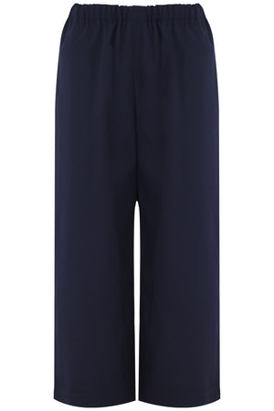 STRAIGHT LEG CROP PANT NAVY