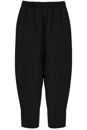 TAPERED DROP CROTCH PANTS BLACK