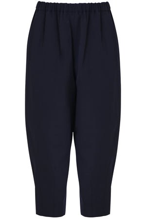TAPERED DROP CROTCH PANTS NAVY