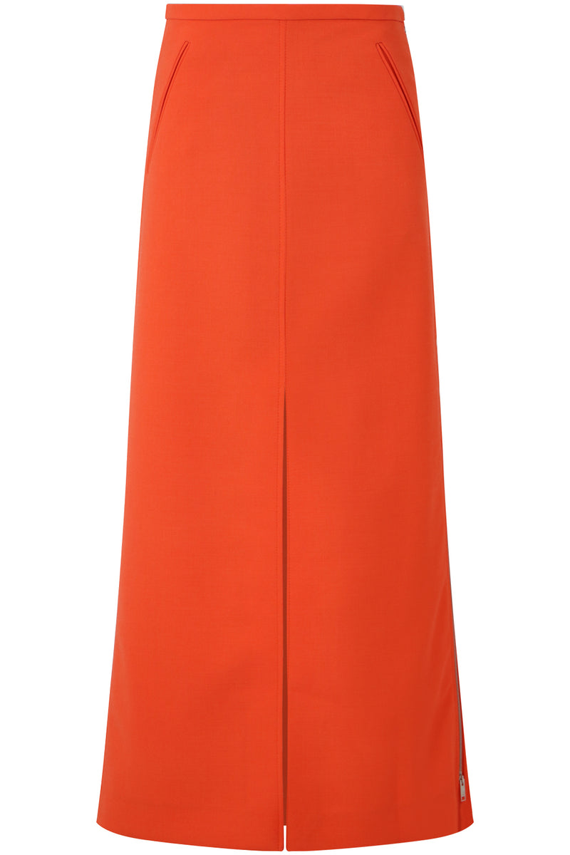 MAXI SKIRT WITH MIDDLE SPLIT ORANGE