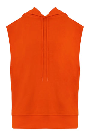 SLEEVELESS HOODED SWEATER ORANGE