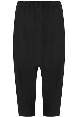 CRINKLED DROP CROTCH PANT BLACK