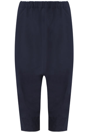 CRINKLED DROP CROTCH PANT NAVY