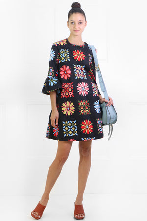VETRATA GRANDE 24/7 DRESS L/S NAVY/MULTI