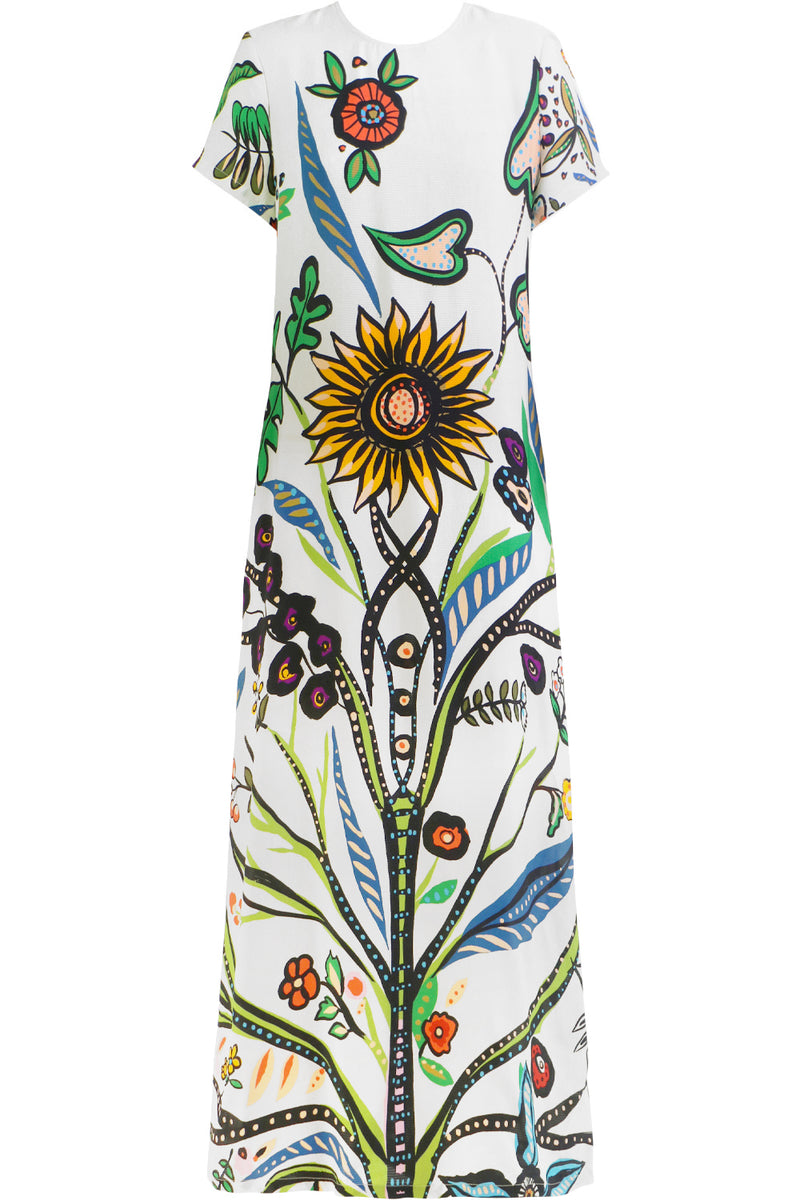 TREE OF LIFE MAXI DRESS S/S MULTI