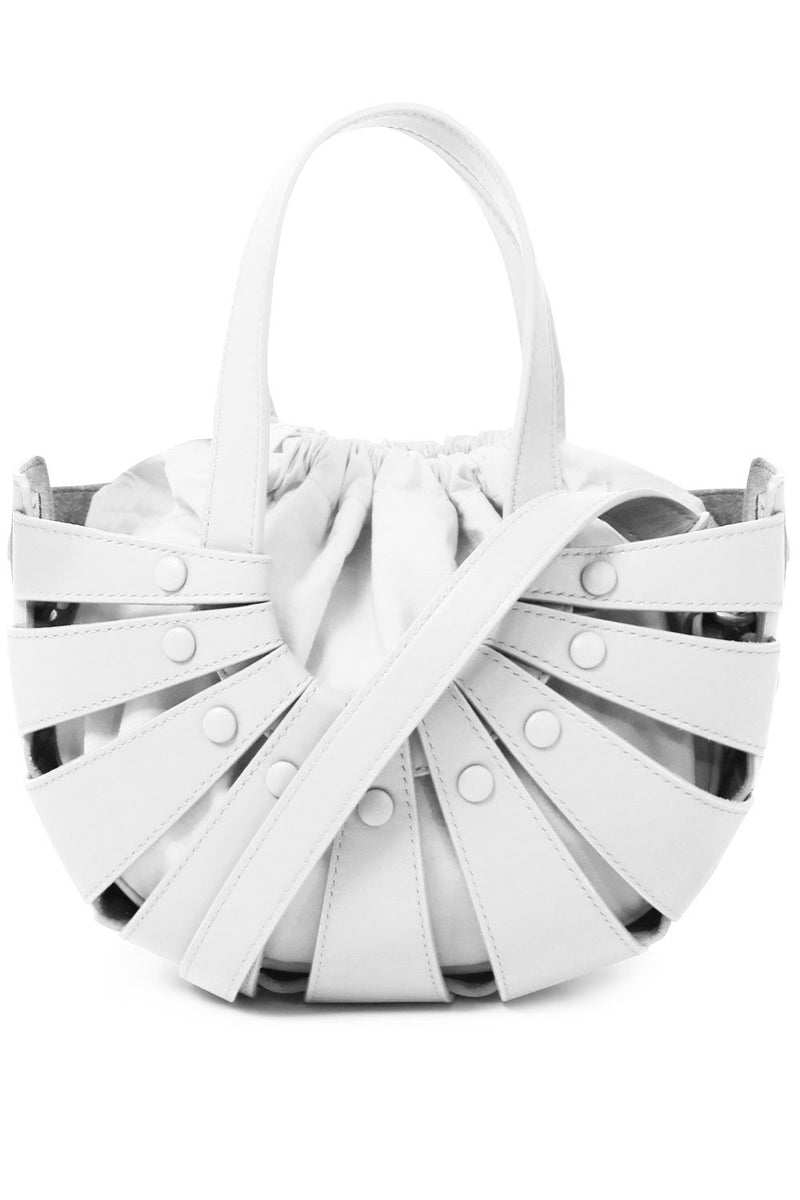 THE SMALL SHELL BAG WHITE