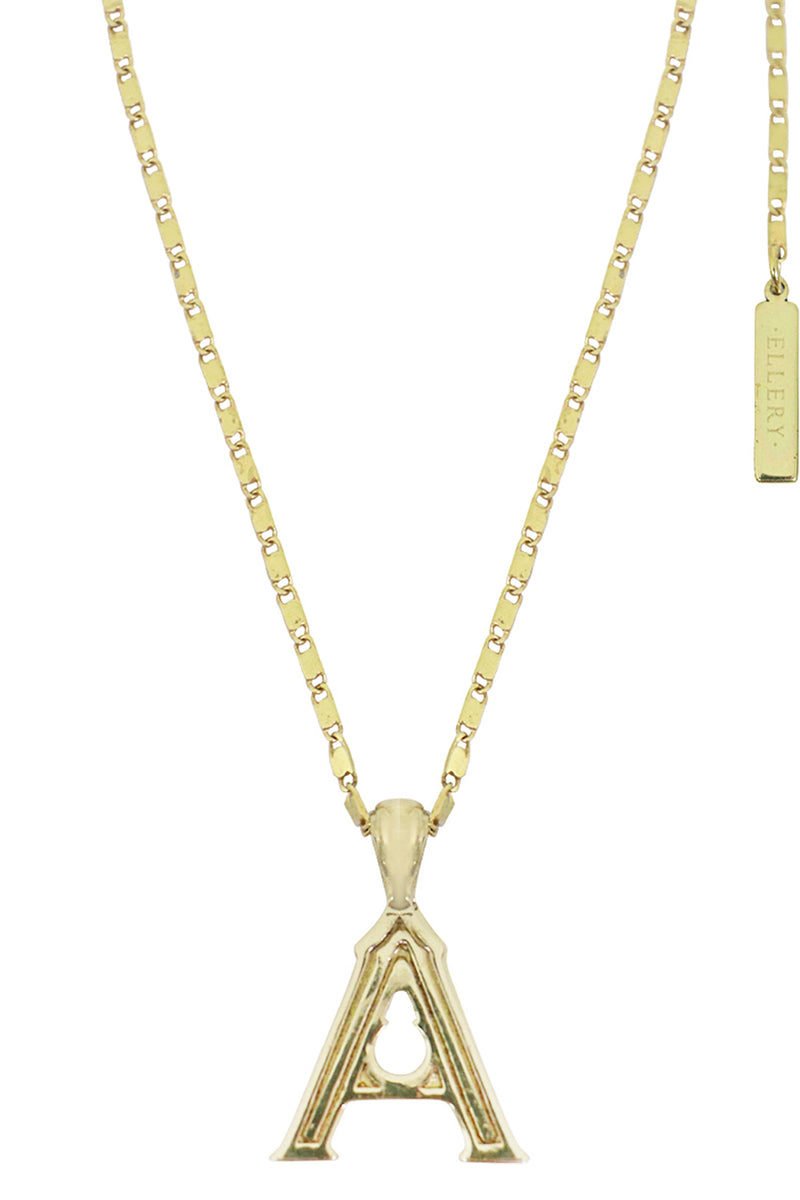 LETTER 'A' ALPHABET NECKLACE GOLD