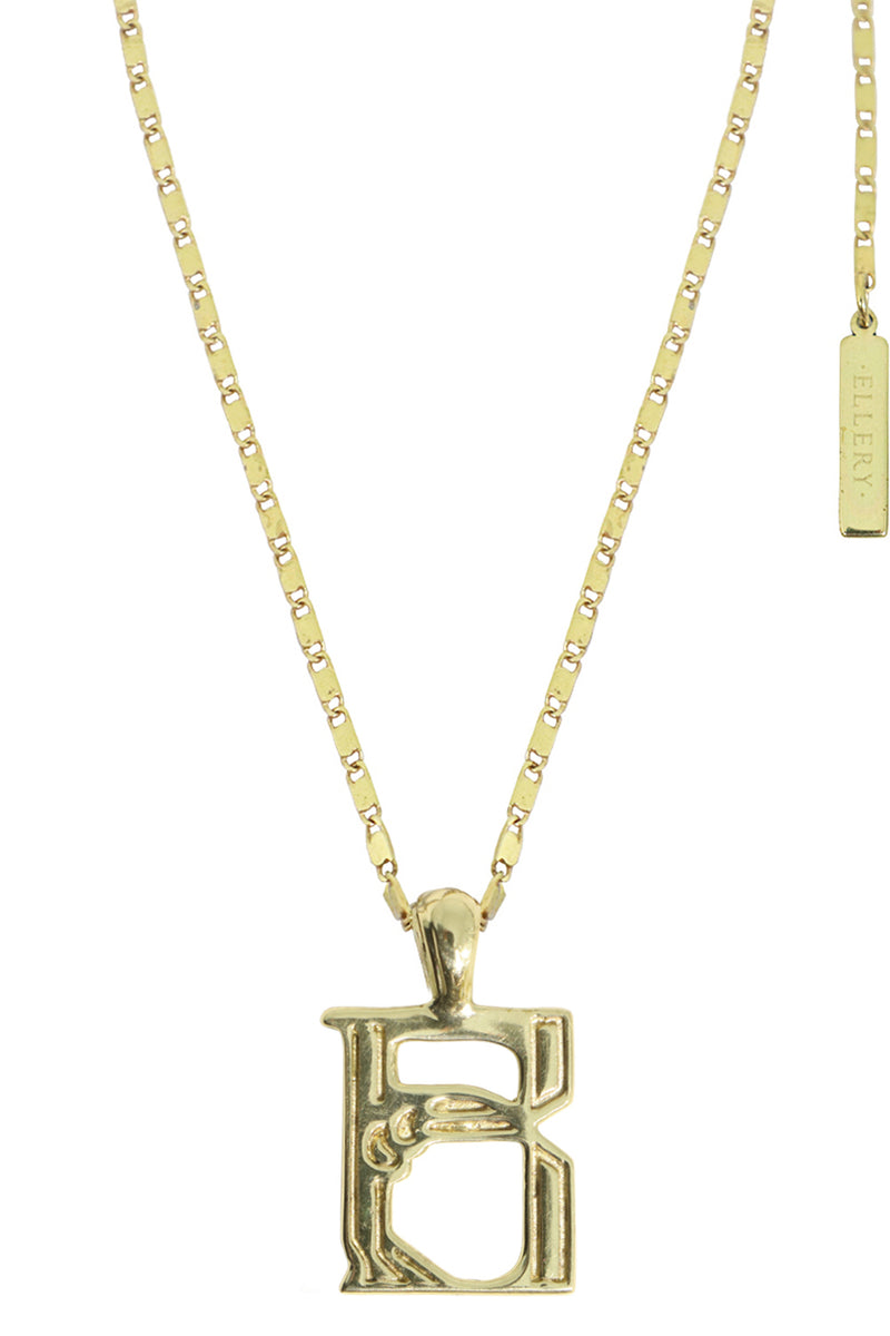LETTER 'B' ALPHABET NECKLACE GOLD