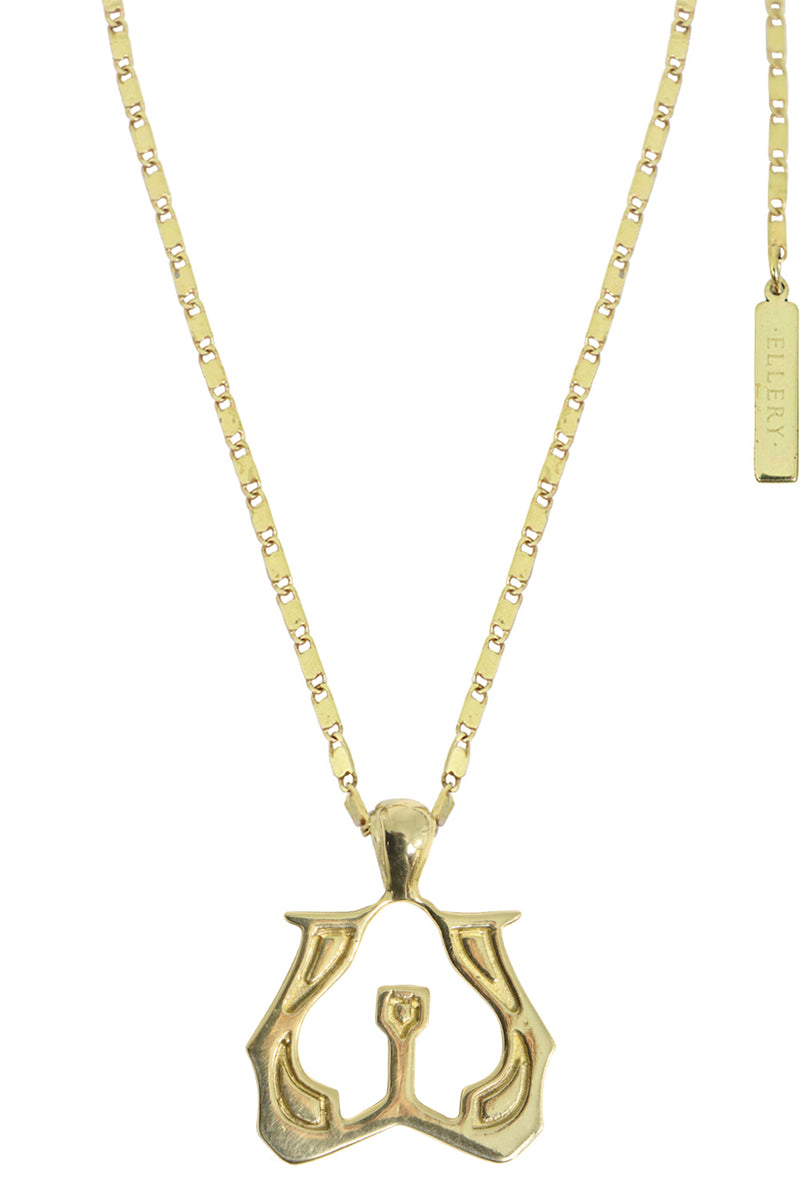 LETTER 'W' ALPHABET NECKLACE GOLD