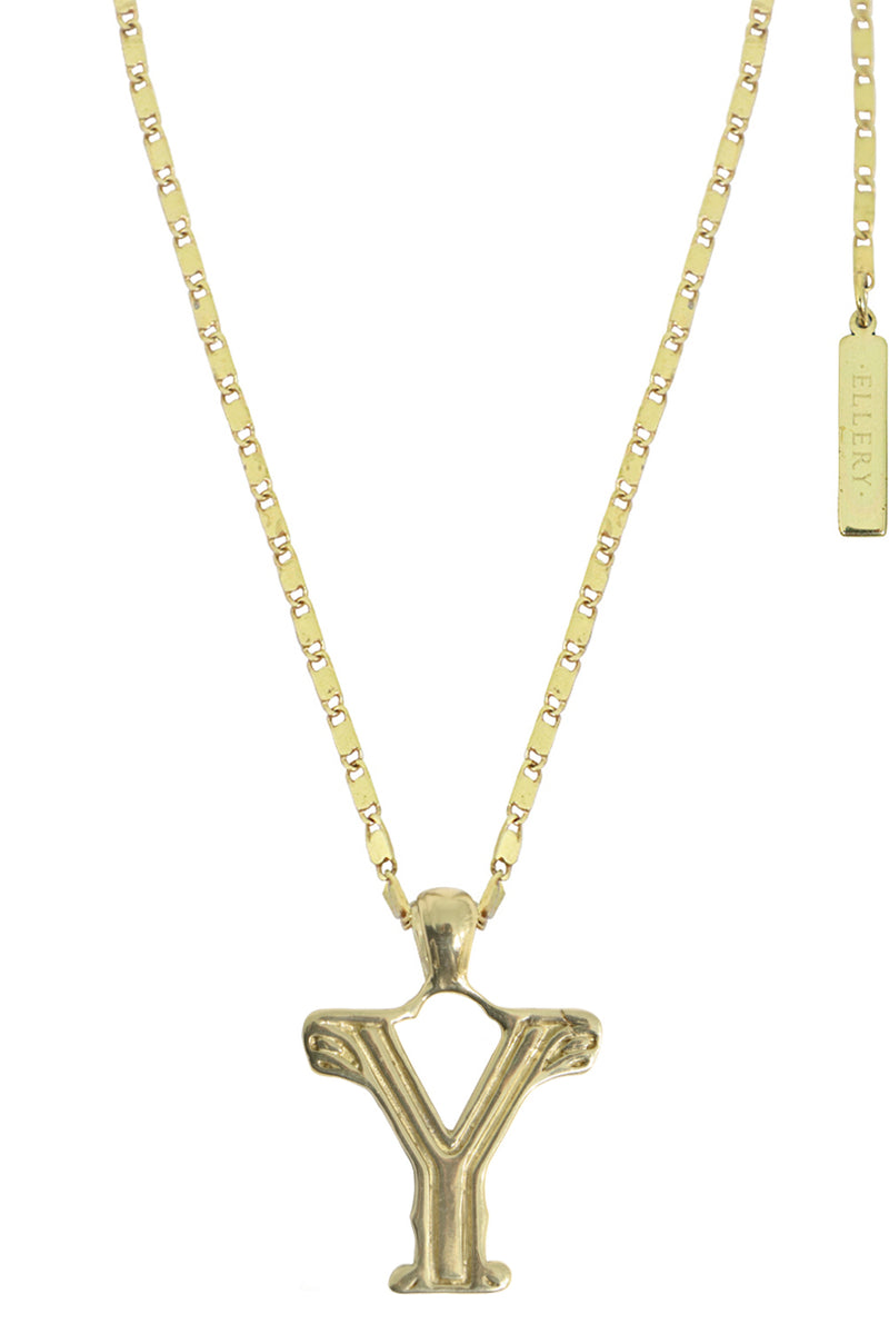 LETTER 'Y' ALPHABET NECKLACE GOLD