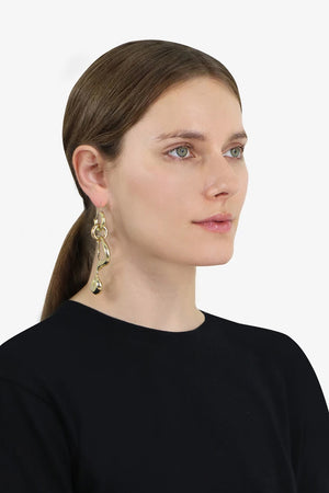 PIZZOCHERI SQUIGGLE EARRINGS GOLD