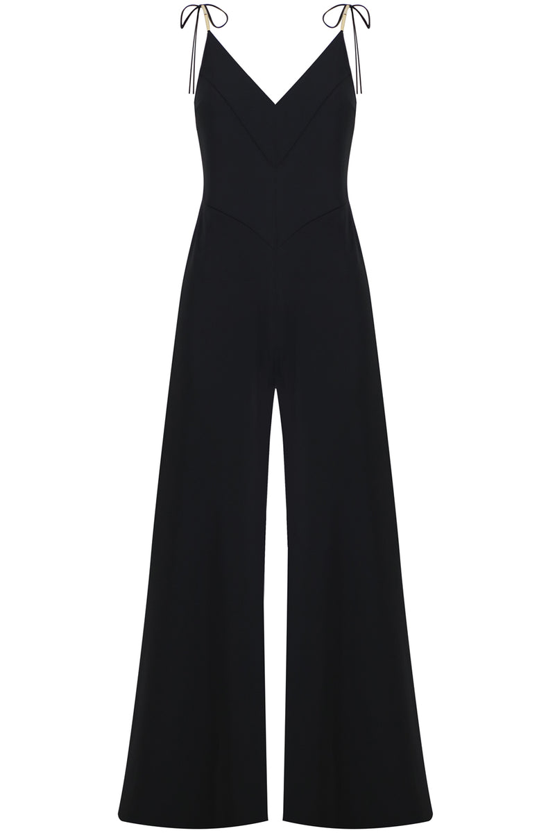 FLORILEGIA JUMPSUIT S/LESS BLACK