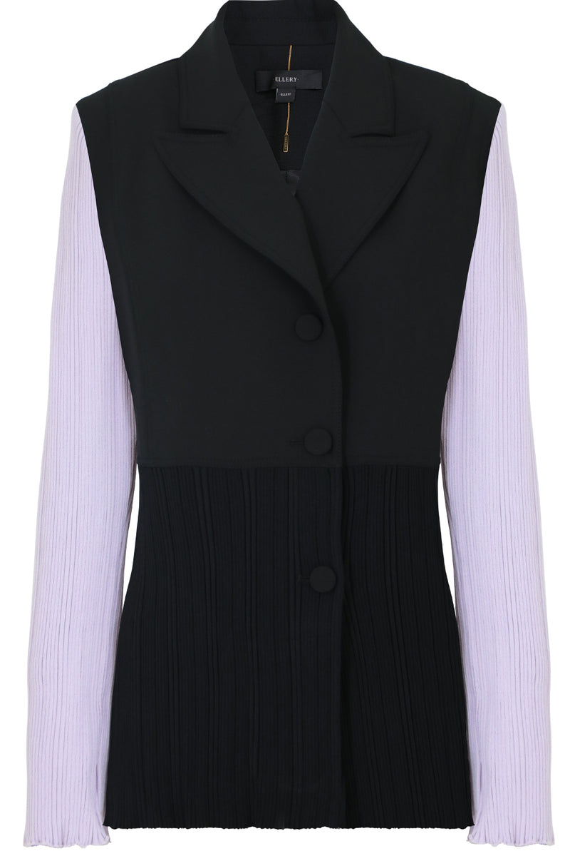 SPICEY CONTRAST SLEEVE JACKET BLACK/LILAC