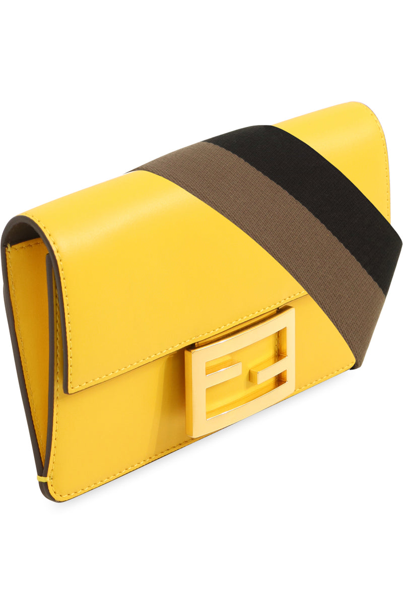MINI BAGUETTE BAG WITH CANVAS STRAP YELLOW