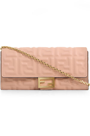 CONTINENTAL CHAIN WALLET PINK