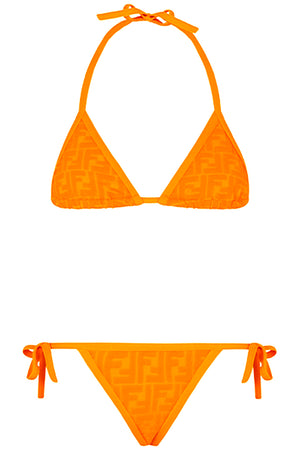 FF EMBOSSED BIKINI ORANGE