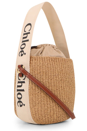 WOODY RAFFIA CROSSBODY BAG WHITE