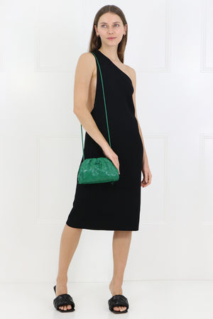 THE POUCH 20 WOVEN LEATHER RACING GREEN