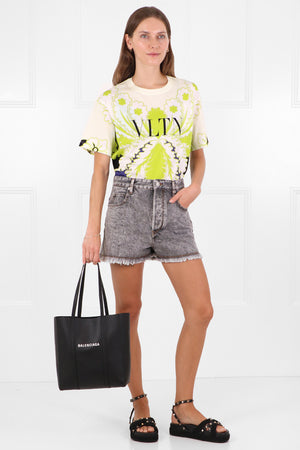 TROPICAL PRINT T-SHIRT S/S LIME