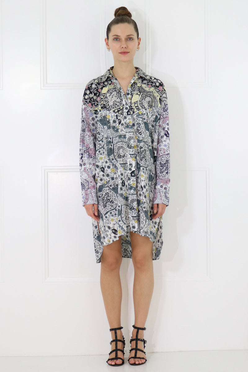 ETOILE USSAYA SHIRT DRESS L/S ECRU/ALMOND