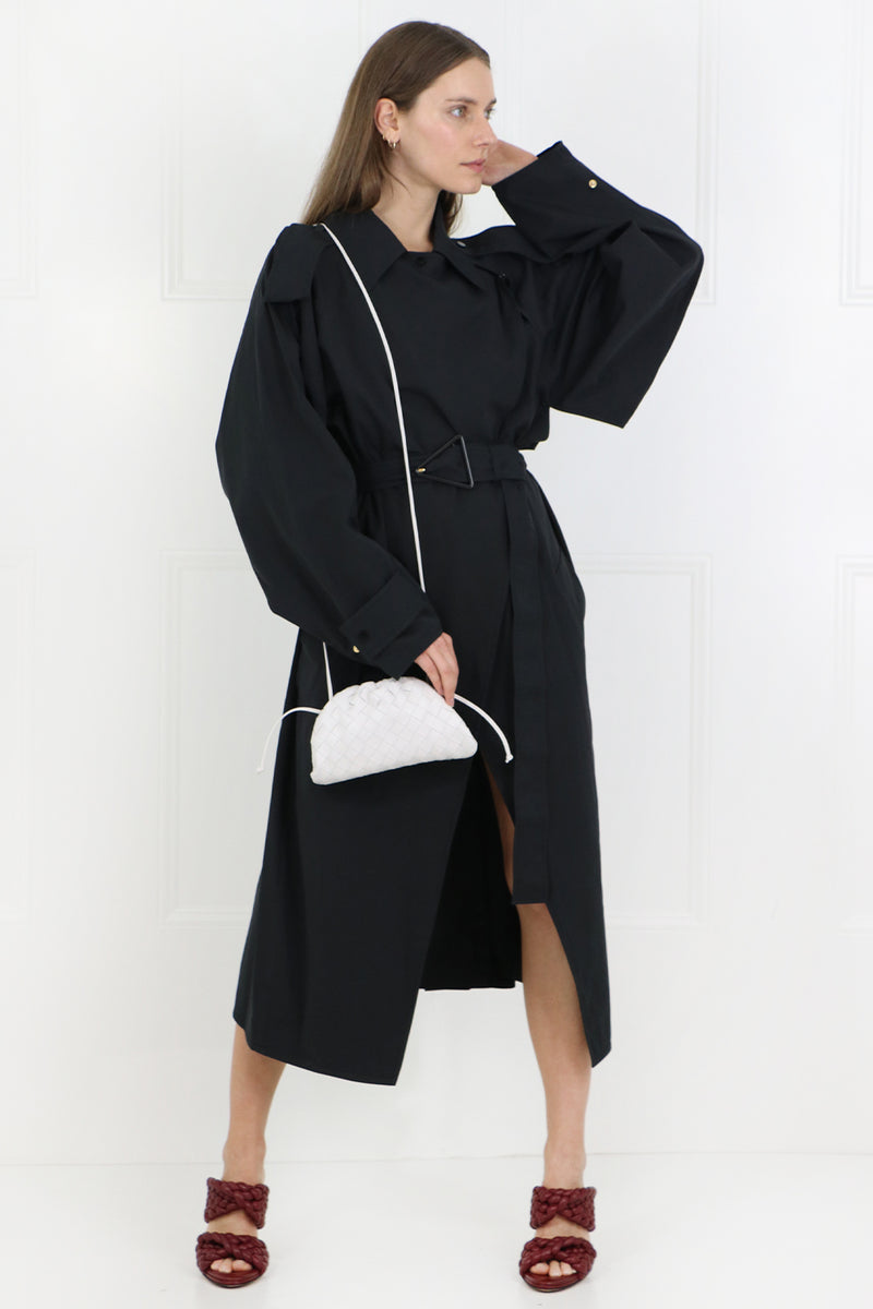 CLASSIC TRENCH COAT OFF BLACK