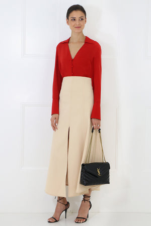 GULLIVER SPLIT SKIRT TAN