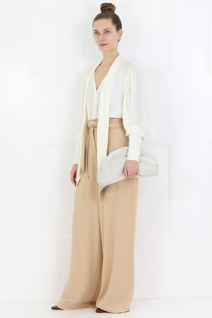 IONA WIDE LEG PANTS WITH BELT TAN