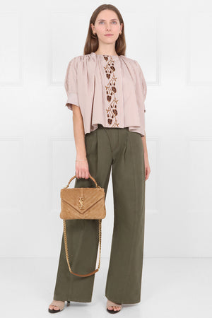 WIDE LEG PANTS GRAPE LEAF