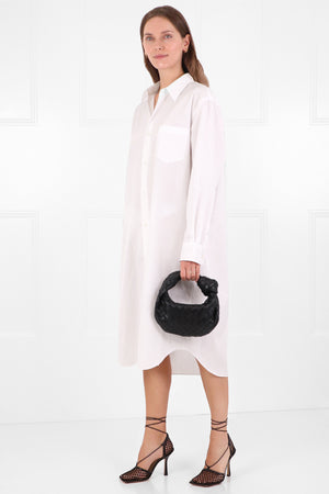 OVERSIZED SHIRT DRESS L/S WHITE